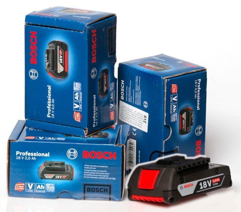 Батерии Bosch GBA 18V 2Ah и GBA 18V 4Ah, Зарядни и Винтоверти