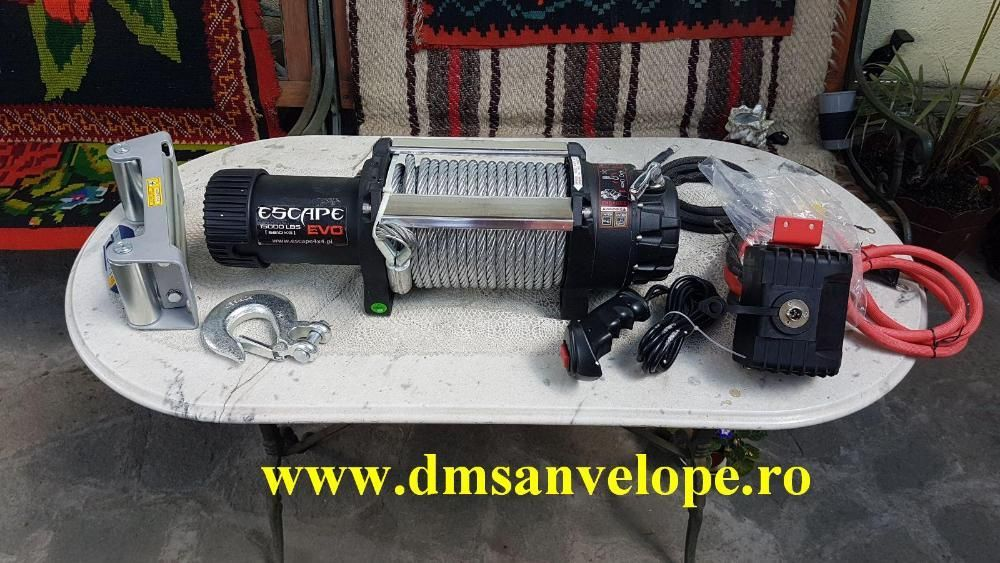 Troliu OFF-ROAD Escape EVO - 15000 lbs ( 6800 kg)-cablu de otel