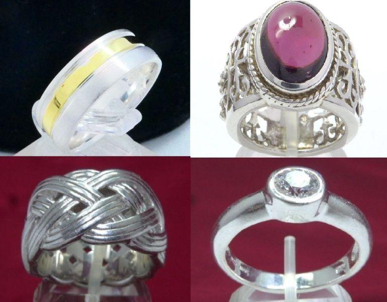 Сребърни пръстени дамски и мъжки, халка, Аметист, Циркон, Esprit