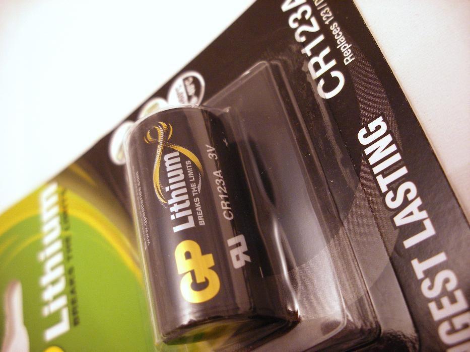 Литиева фото батерия 3v GP 123А 123a фотоапарат фенер нашийник