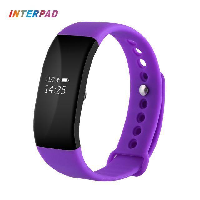 ceas oled touch digital monitorizare puls pasi tacho inima android ios