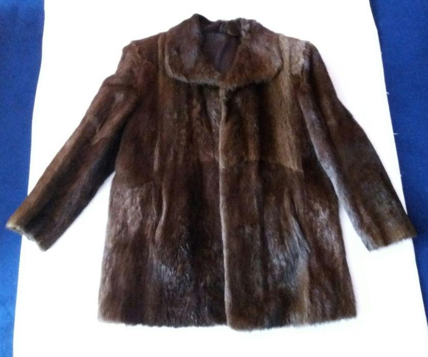 Кожено палто от нутрия - естествена кожа