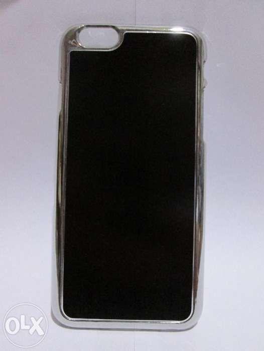 Husa Slim Iphone 6, 6S - aluminium brushed - culori negru si gri