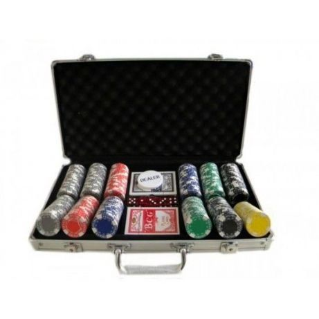 Set Poker 300 jetoane chips-uri SERVIETA ALUMINIU