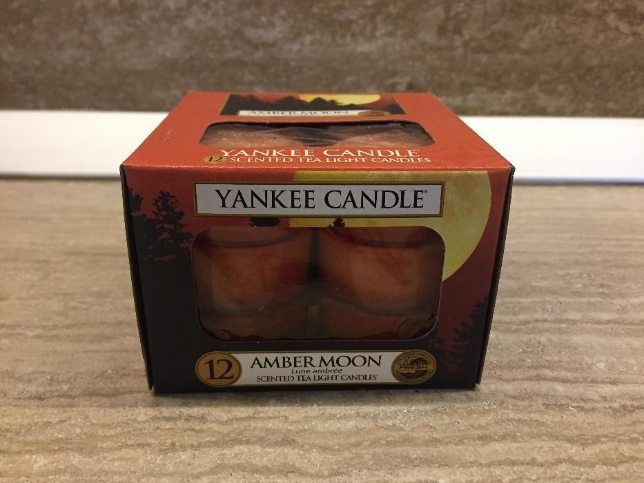 Lumanare Parfumata Yankee Candle Amber Moon, set 12 buc. made in USA
