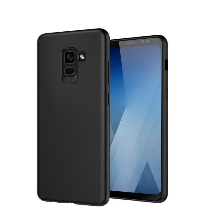 Samsung A6 A6+ A8 A8 + 2018 - Husa Ultra Slim Din Silicon Neagra