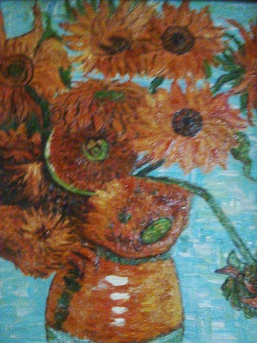 Картина ПОДСОЛНУХИ.Ван Гог. Масло. Размер 75 х 66 см