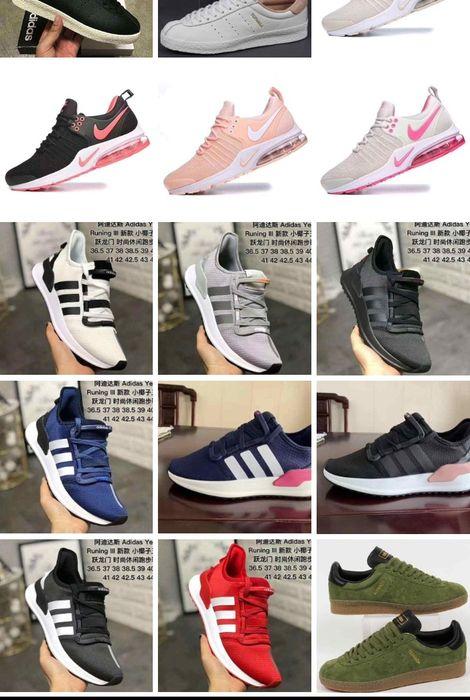 Adidas e Nike disponíveis e várias outras marcas