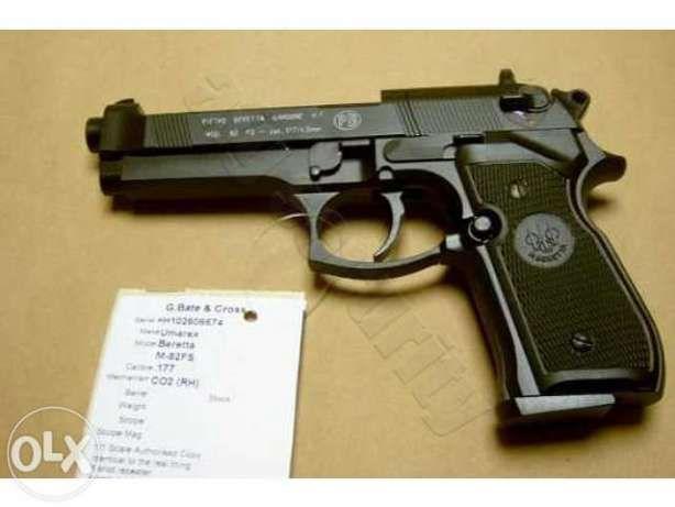 Pistol F. PUTERNIC (Cu Aer Comprimat) Airsoft CO2 + Bile,Capsule BONUS