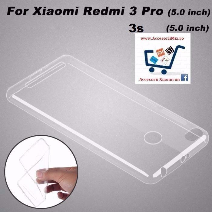 Husa Silicon Slim Xiaomi Redmi 3, 3x, 3s, 3pro 5.0 inch 2016. NOU!