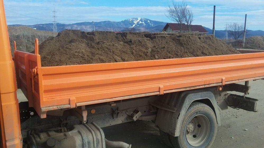 Transport Nisip moloz pietris balastru pământ