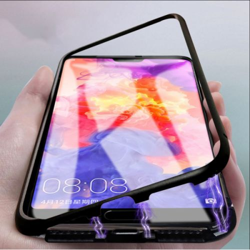 Husa iPhone 7 PLUS, Magnetica 360 grade cu spate de sticla securizata