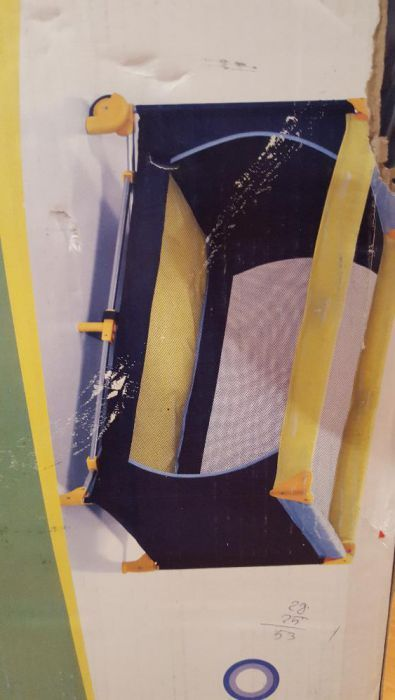 Patut portabil bebelus Hauck Dream N' Play 120 x 60cm galben/albastru