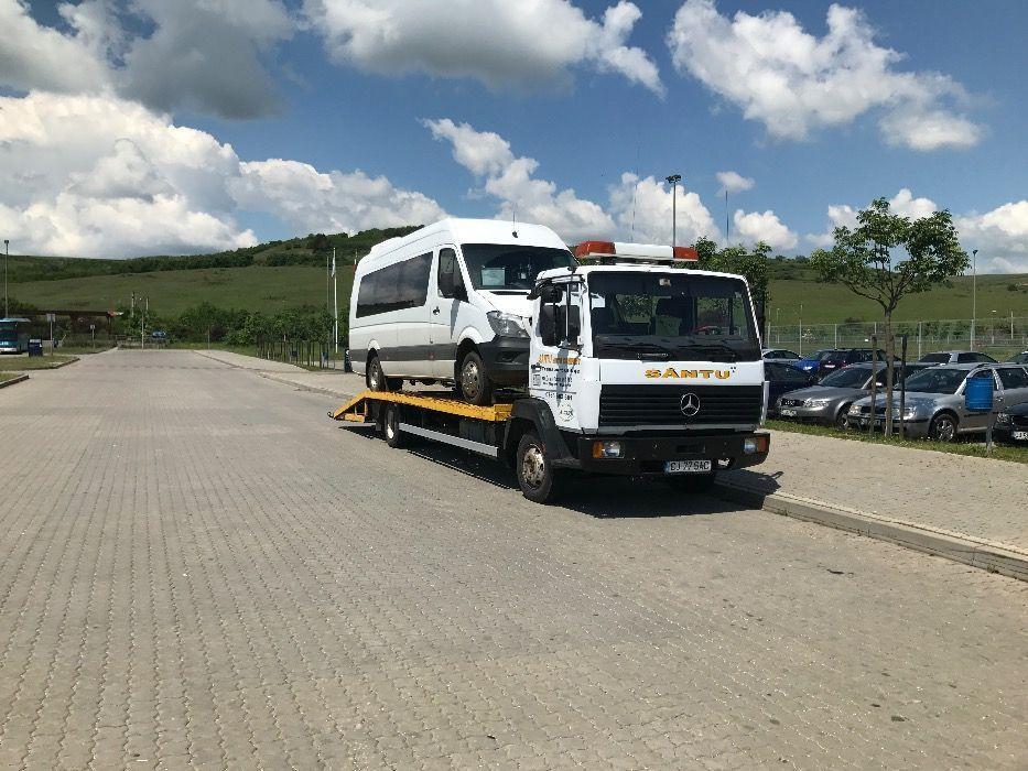 Mercedes ecopower 814 an 1995, camion tractari auto / utilaje