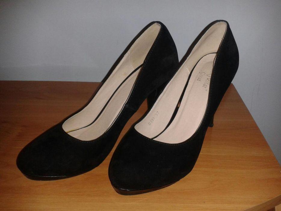 Pantofi negri din catifea