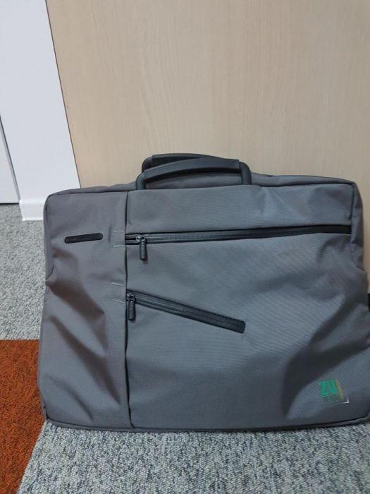 Vând geantă laptop LEXON, personalizată cu Radio ZU