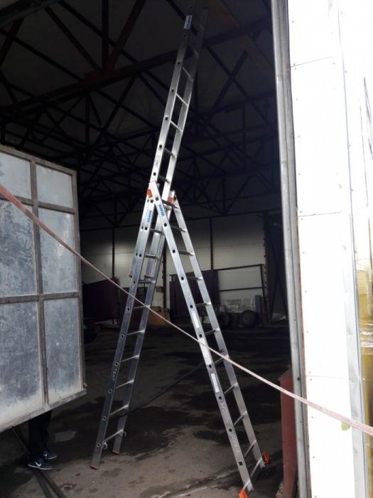 Лестница, стремянка Krause Аренда 3-секционная, 10 ступенчатая, Прокат