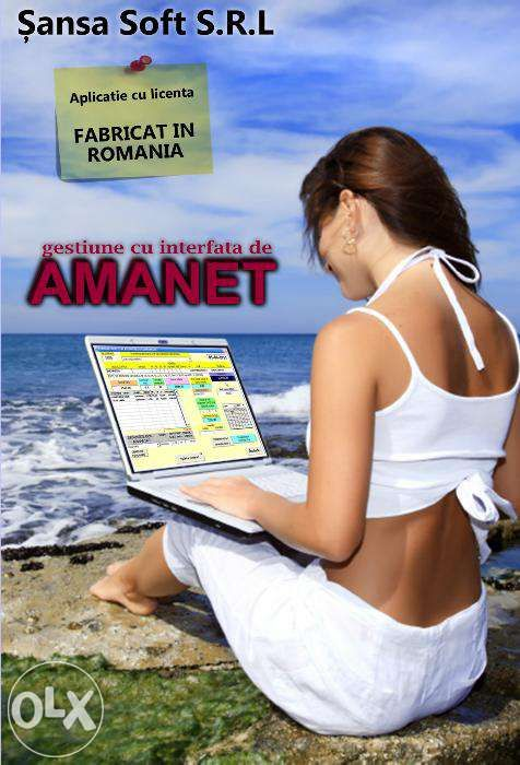 400lei-Soft/program pt.CASA DE AMANET complet,licentiat, fab. in Ro