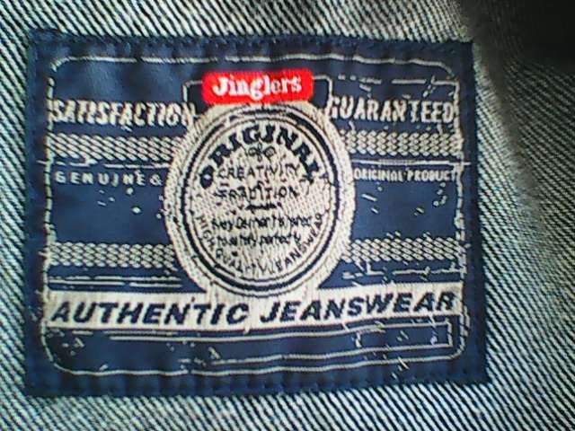 Geaca blugi JINGLERS barbati masura XL , 48 cm la umeri.