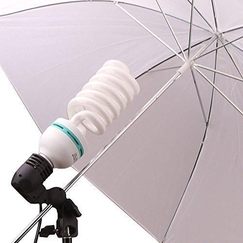 Kit lumini videochat cu un bec si umbrela tip softbox difuzie 83cm Bucuresti - imagine 2