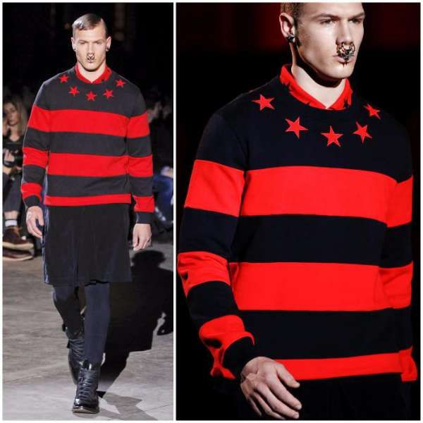 GIVENCHY STARS AND STRIPES Мъжки Пуловер размер S , M и L