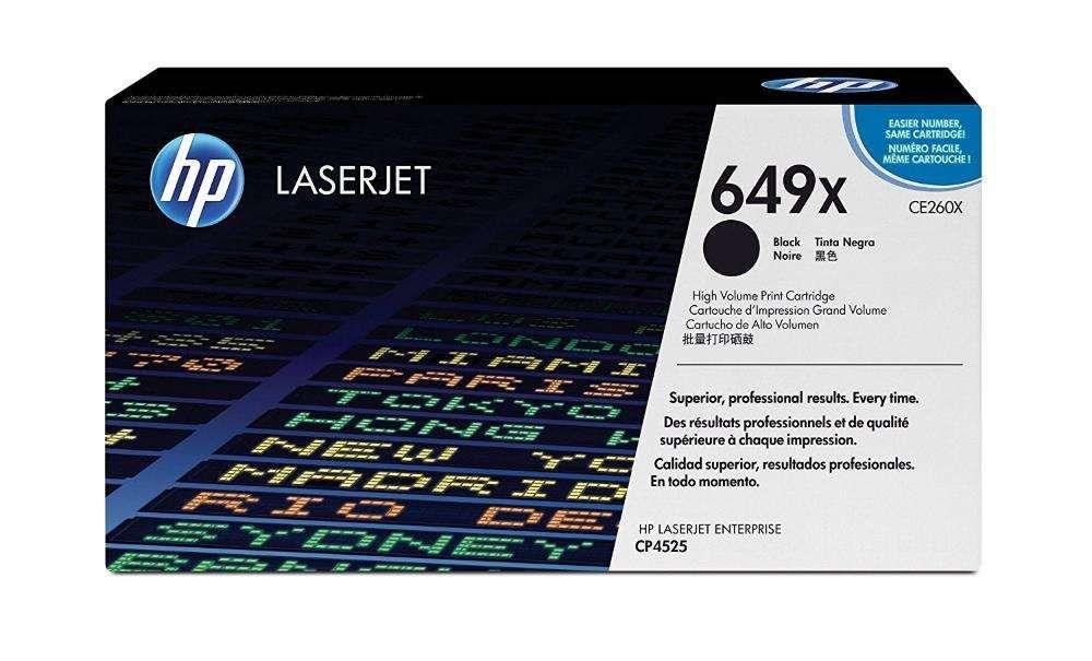 TONER HP 649X, CE260X, CE264X PRETO Generico para LaserJet CP4025/4540