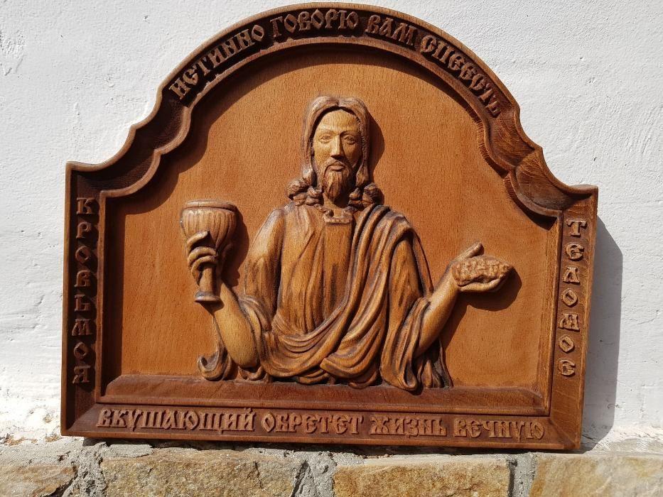 Дърворезба, Икони ИСУС ХРИСТОС или Богородица