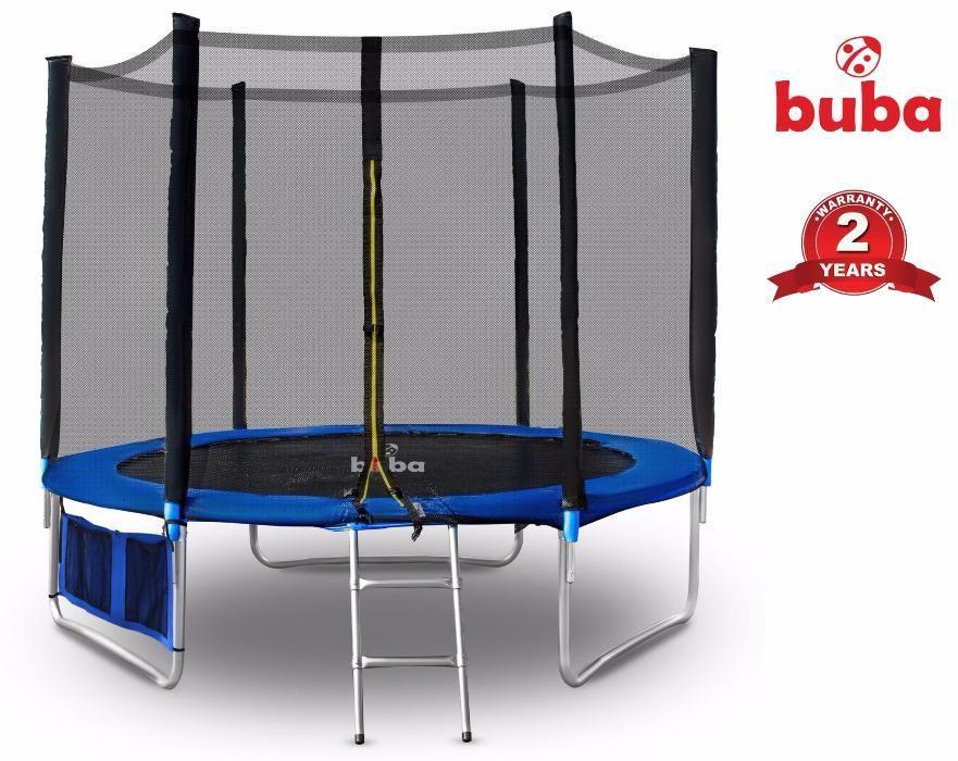 Buba Детски батут 10FT (305 см) с мрежа и стълба и безплатна досатвка
