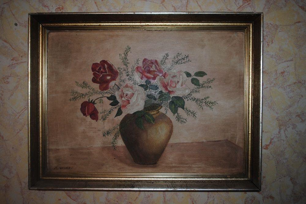 Натюрморт M. Wagner, масло фазер, дървена рамка размер - 65/49,5