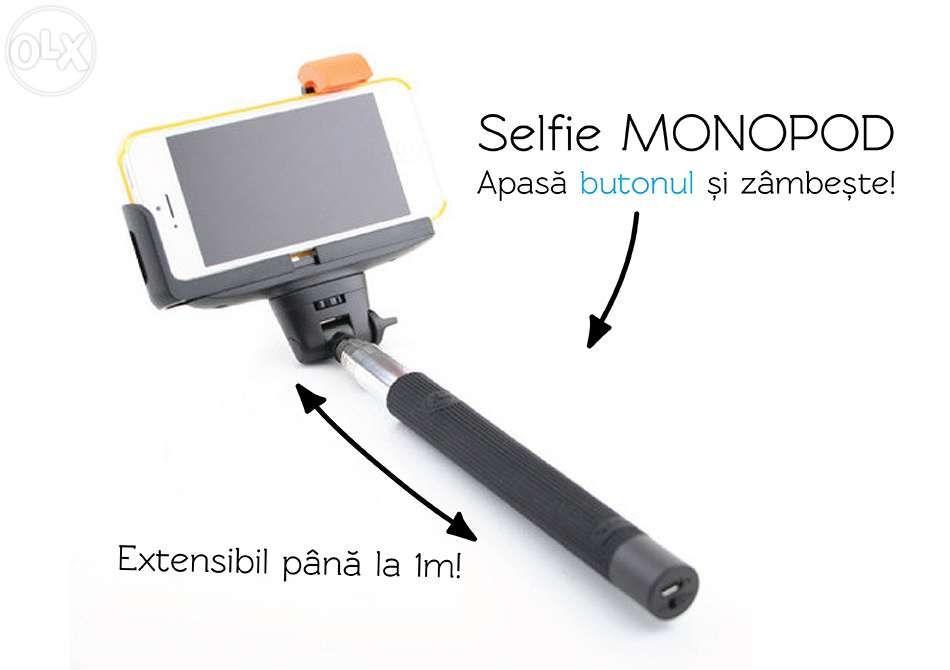 Selfie stick extensibil wireless,monopod baston selfie cu bluetooth