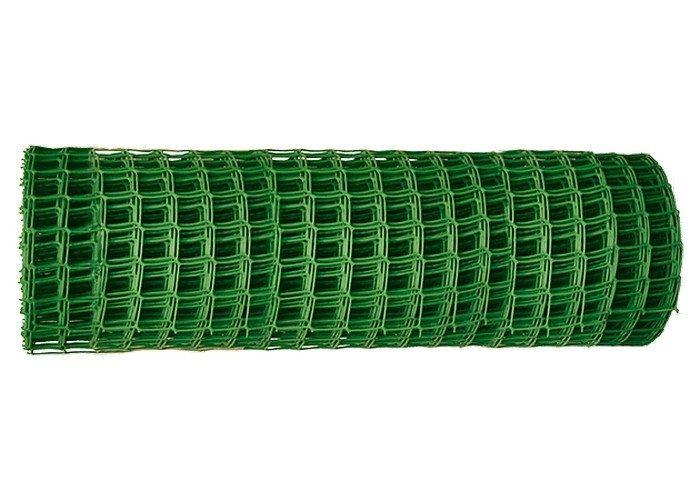 Садовая решётка в рулоне 1х20 м, ячейка 83х83 мм - зелёная // Россия