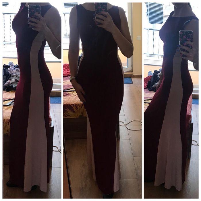 Намалена! Дълга официална рокля супер еластична материя