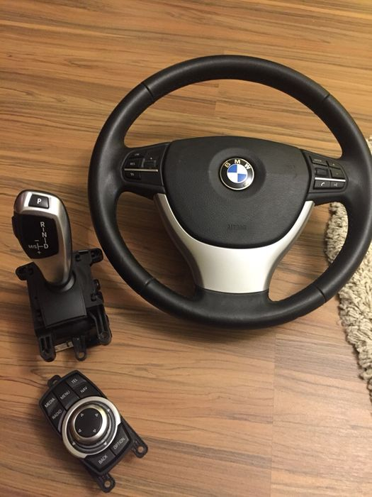 Volan BMW f10 schimbator viteze si controler navigatie