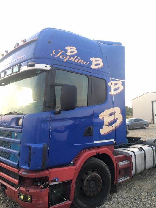 Dezmembrez Scania 420 Topline 2003 motor cutie caseta cabina bord far