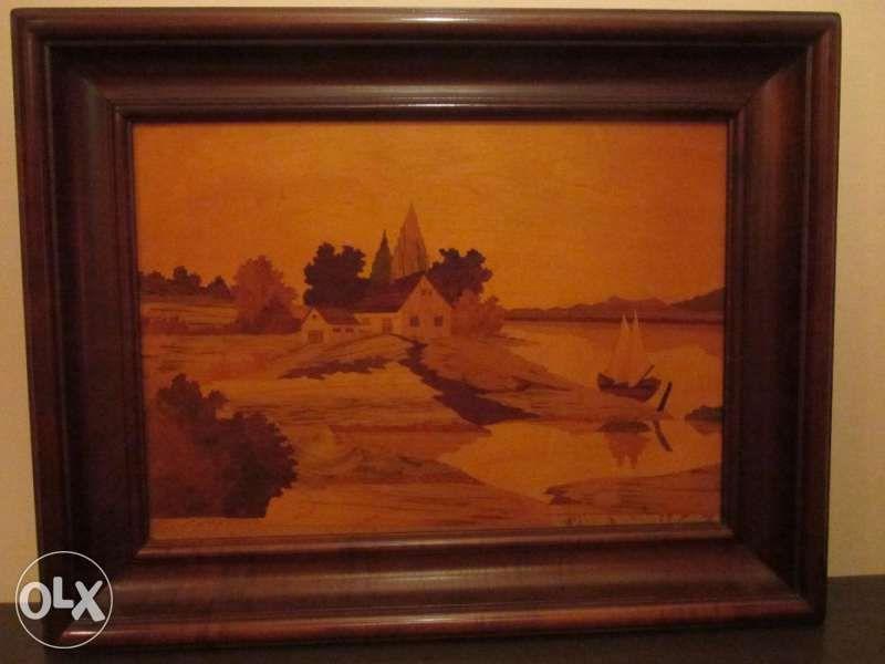 Картина(интарзия) с рамка от орех.