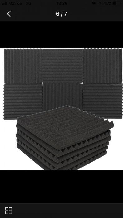 12 x Espumas de isolamento acústico para estúdio de capitação de som