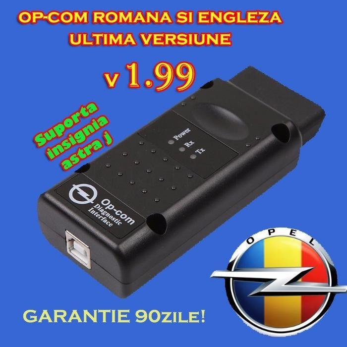 Tester Diagnoza AUTO OPEL OPCOM 1.99 Romana 2014 Garantie OP COM A+++