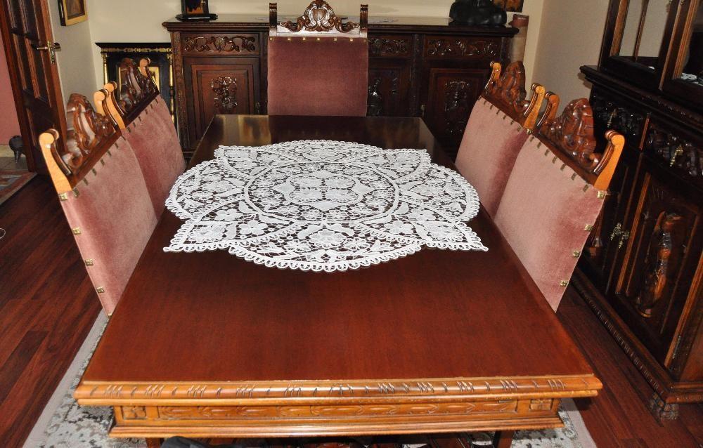 mobila sufragerie , renastere spaniola , stil , lemn masiv