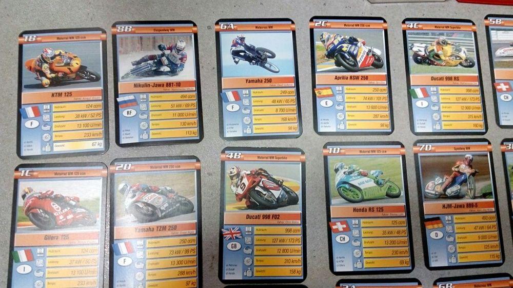 Jetoane cărți joc motociclete colecție machete Suzuki Kawasaki Yamaha