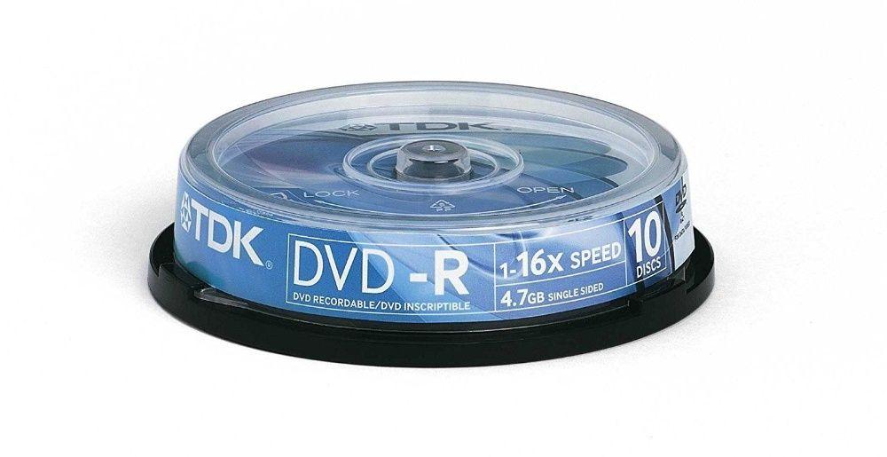 DVD-R шпиндел 10бр TDK 4.7Gb 1-16x ScratchProof