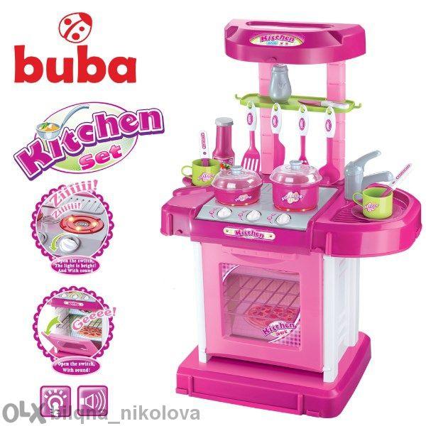 Buba My Kitchen детска кухня розова/червена