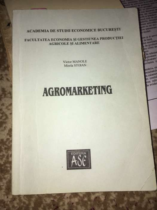 Carte Agromarketing Victor Manole Mirela Stoian ASE