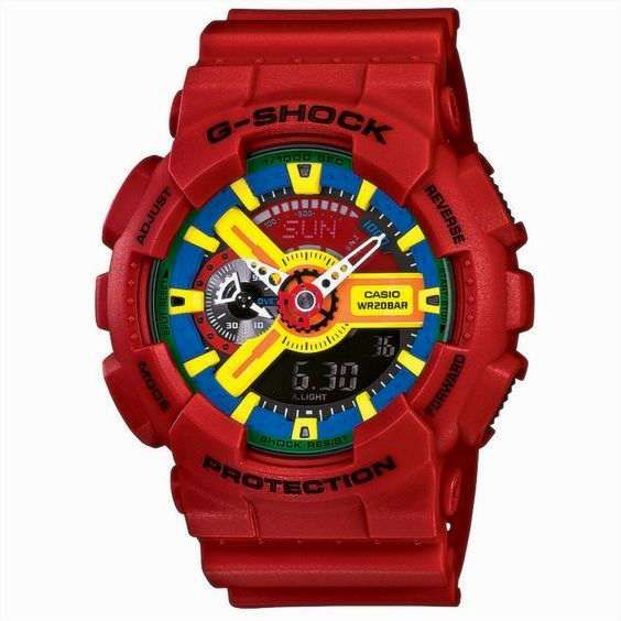 Ceas Sport Casio G Shock GA110-fc Red NOU,GARANTIE,Autentic 100%