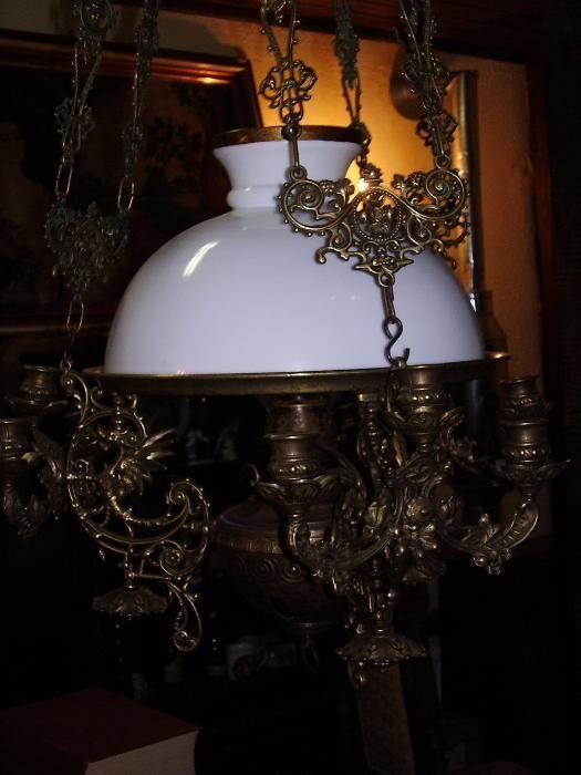 Lampa pe gaz de tavan 1870
