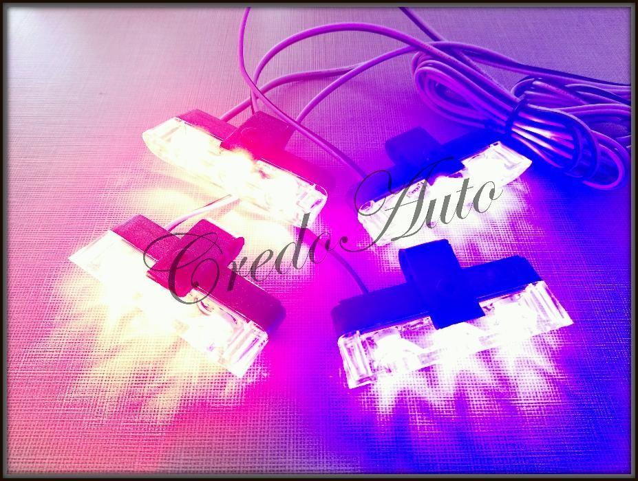 НОВО!LED Полицейски сигнален блиц за решетка!!син/червен+дистанционно!
