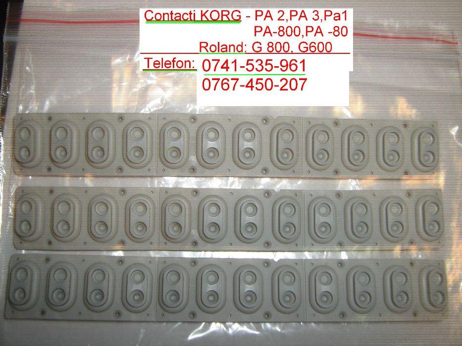 Gume ORGA KORG originali gri claviatura butoane PA 3x, PA2, PA4,