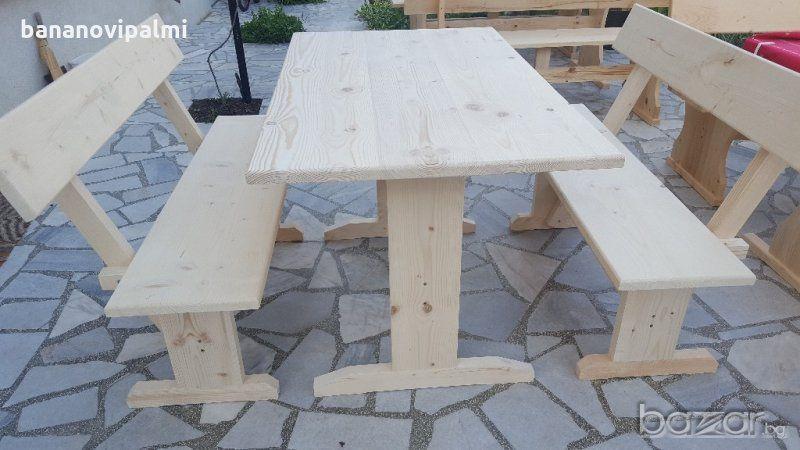Нови баварски маси с пейки комплекти