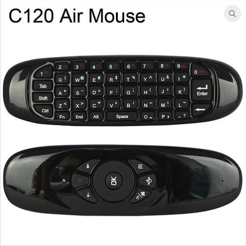 Air Mouse e teclado QWERTY 6-Axis Gyro 2.4G sem fio p/ Android, Win, M