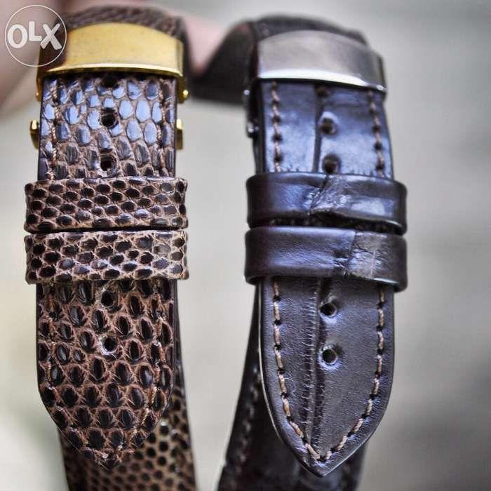 Omega Seamaster- curea de ceas din piele de crocodil- handmade