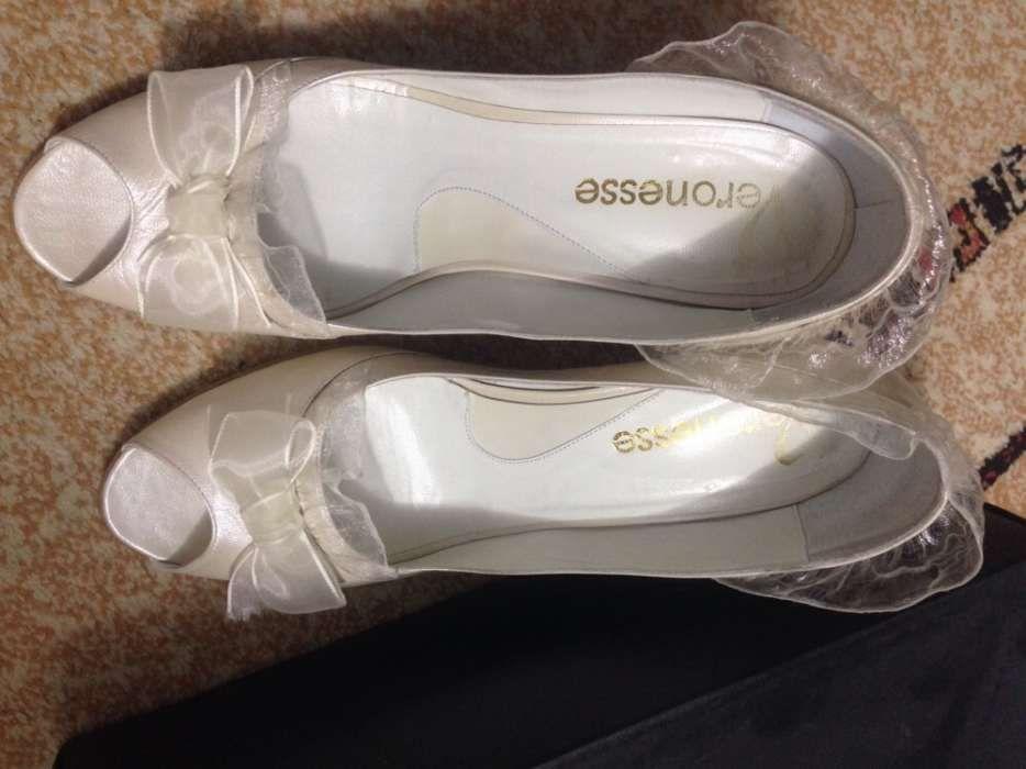 Pantofi de mireasa Veronesse, din piele